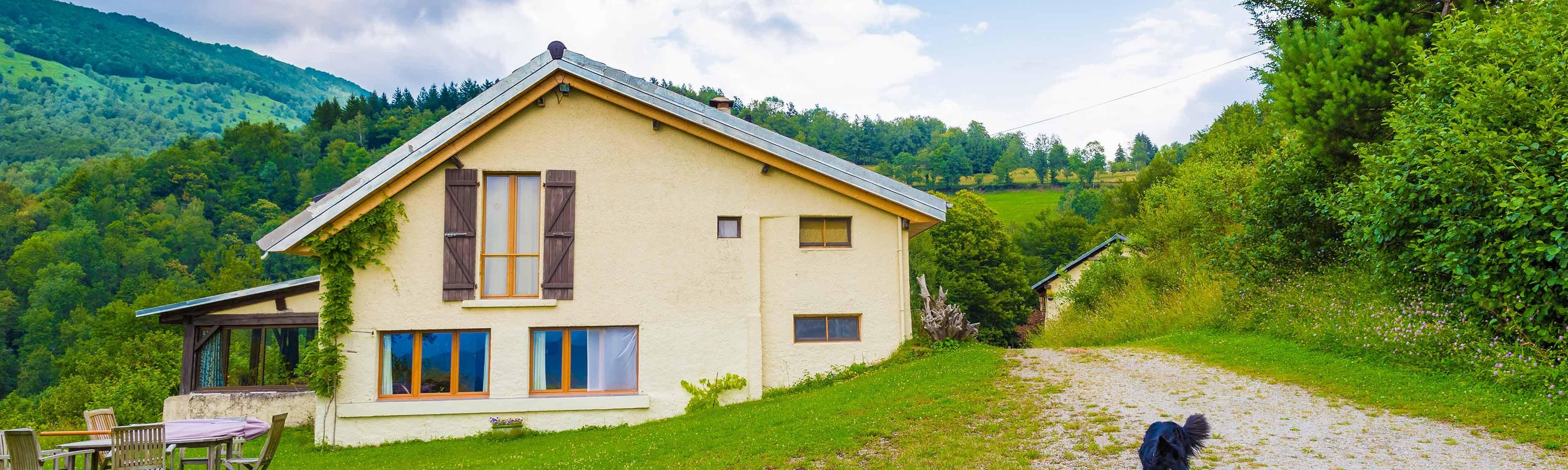 Vakantiehuisje in het groen