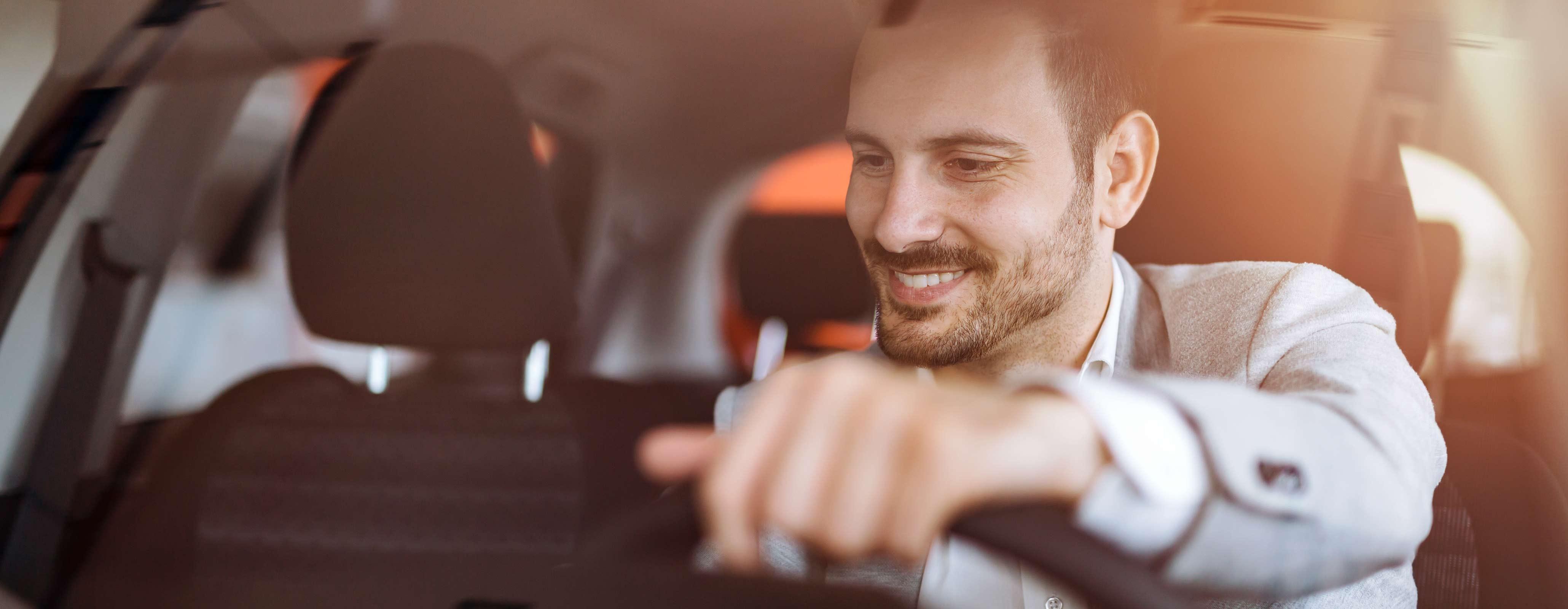 Man in auto