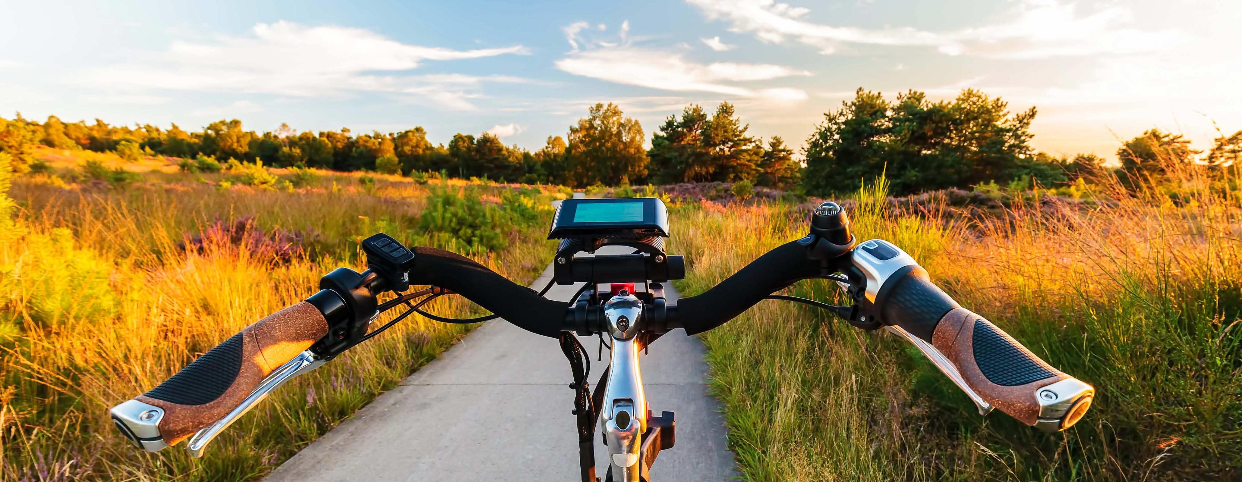 elektrische fiets in natuurgebied