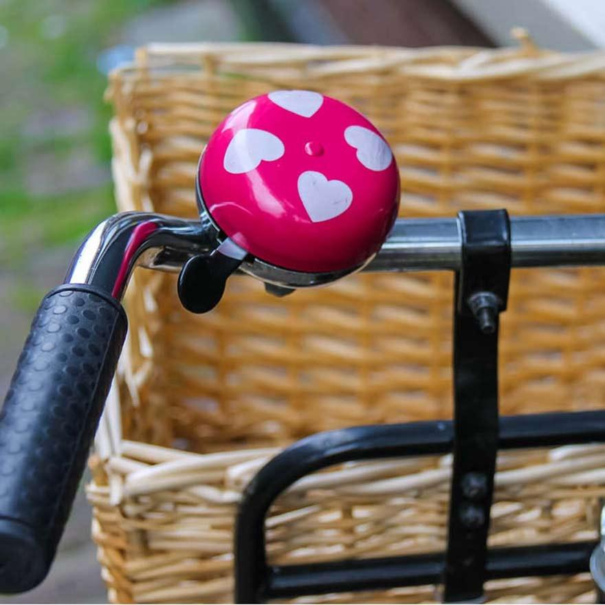 Roze fietsbel