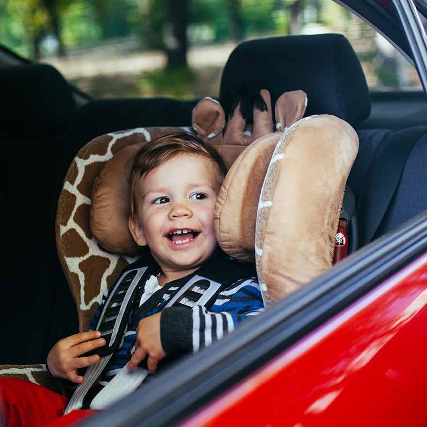 Kindje in de auto