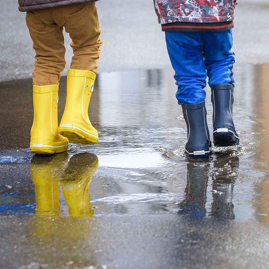 Regenlaarsjes in de regen