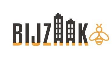 Logo Bijzaak - red de bij, plaats een bijenkast op uw kantoordak of op uw bedrijventerrein